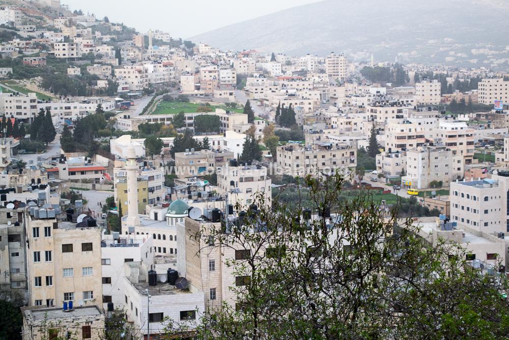 بلاطة البلد من جبل جرزيم