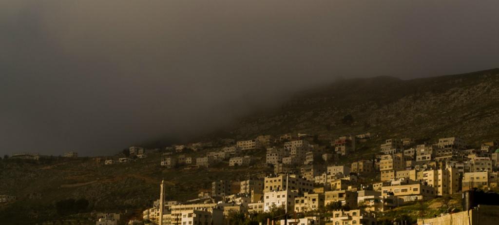 صباح يوم ممطر في بلاطة البلد