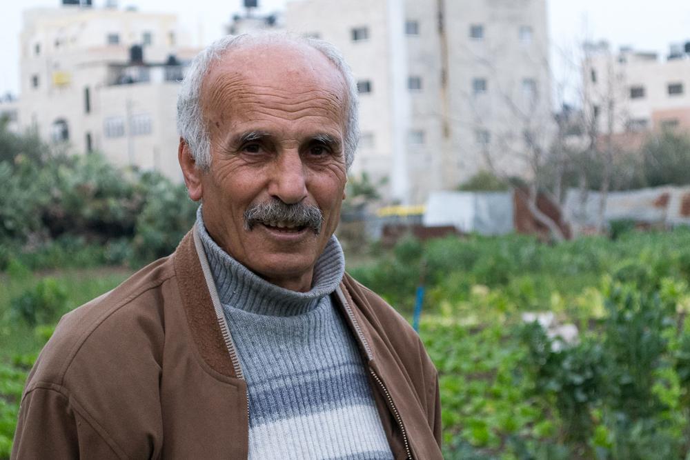 أبو راني في مزرعته