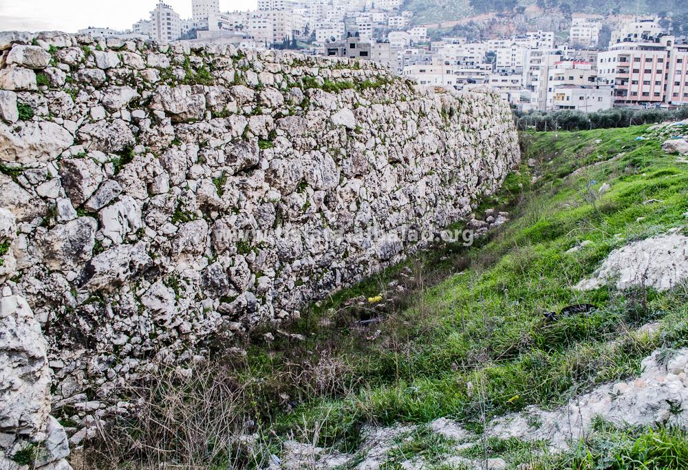 الجدار الغربي في تل بلاطة